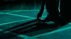Lovers dancing on the dance floor. Stock Footage