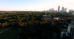 Panning around the Blinding Atlanta Sun - stock footage