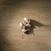 Garlic and pepper mixture on a table Stock Photos