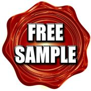 free sample sign - stock illustration