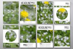 Stock Illustration of Business templates for brochure, flyer or booklet. White flowers on the grass