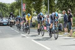 Stock Photo of Team Sky - Team Time Trial 2015