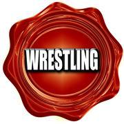 wrestling sign background - stock illustration