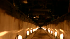 Tunnel illuminated lanterns. Stock Footage