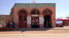 Bird Cage Theatre in Tombstone, Arizona - stock footage