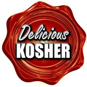 Delicious kosher food - stock illustration