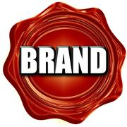 Brand sign background Stock Illustration