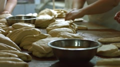 Bakers made bread. Stock Footage