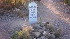 Headstone in Tombstone's Historic Boot Hill Cemetery - stock footage