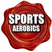 Sports aerobics sign background Stock Illustration