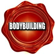 Bodybuilding sign background Stock Illustration