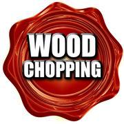 wood chopping sign background - stock illustration