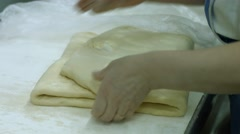 Packaging of fresh dough. Stock Footage