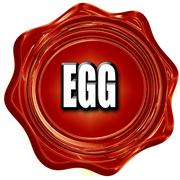 Delicious egg sign Stock Illustration