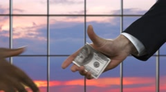 Corruption and business. - stock footage