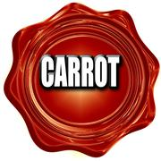 Delicious carrot sign - stock illustration