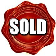 sold sign background - stock illustration