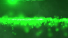 Green particles glow Stock Footage