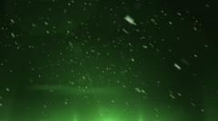 Green background particle - stock footage