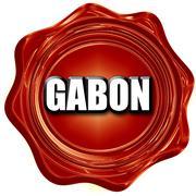 Greetings from gabon - stock illustration