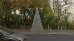 Zois street pyramid in Ljubljana Stock Footage