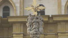 Holy Trinity Column in Ljubljana Stock Footage