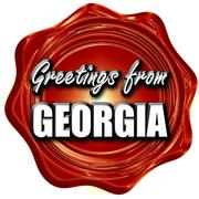 Greetings from georgia - stock illustration