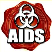 Aids virus concept background Stock Illustration