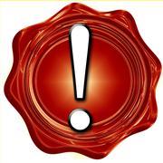 Hazard warning sign - stock illustration