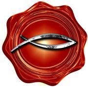 Christian fish symbol Stock Illustration