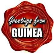 Greetings from guinea - stock illustration