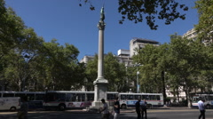 Column of Peace statue, Liberty Square, Montevideo, Uruguay Stock Footage