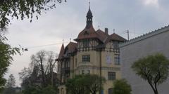 American Embassy building in Ljubljana Stock Footage