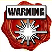 Laser warning sign Stock Illustration