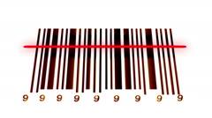 Animated barcode Stock Footage