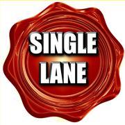 Single lane sign Stock Illustration