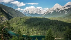 Zugspitze mountains with flowing clouds timelapse Stock Footage