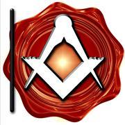 Masonic freemasonry symbol - stock illustration