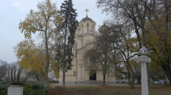 Sts. Cyril and Methodius Church in Ljubljana Stock Footage