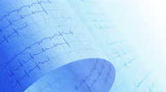 Hospital, electrocardiogram, ECG medical background. LOOP. Stock Footage