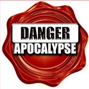 apocalypse danger background - stock illustration