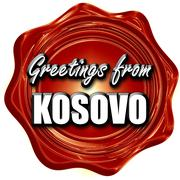 Greetings from kosovo - stock illustration