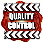 Quality control background Stock Illustration
