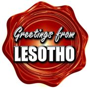 Greetings from lesotho - stock illustration