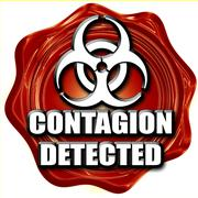 Contagion concept background - stock illustration