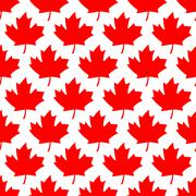 Seamless wrapping paper - red maple leafs Stock Illustration