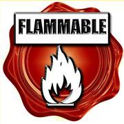 Flammable hazard sign Stock Illustration