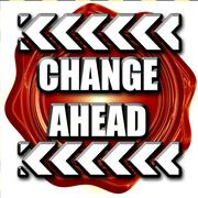 Change ahead sign Stock Illustration