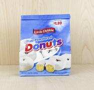 Bag of Little Debbie Mini Powdered Donuts - stock photo