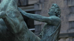 Alexander The Great statue in Edinburgh, UK Stock Footage